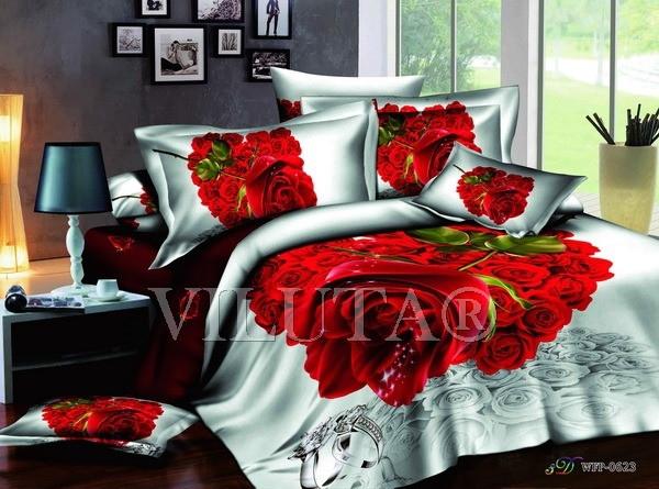 """Комплект постельного белья """"Viluta-сатин 3D (Фотопринт)"""", полуторный"""