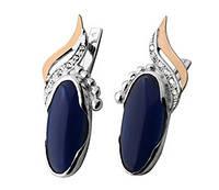 """Срібні сережки """"Роксолана"""" -  срібло 925 проби з золотими вставками, серебряные сережки с золотом"""