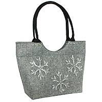 Женская сумка з войлока