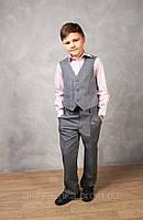 Жилет школьный для мальчика серый, фото 1