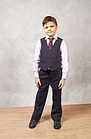 Жилет школьный для мальчика синий, фото 1