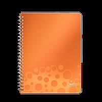 Тетрадь на спирали Leitz Bebop, 80 листов в клетку, оранжевый ESSELTE