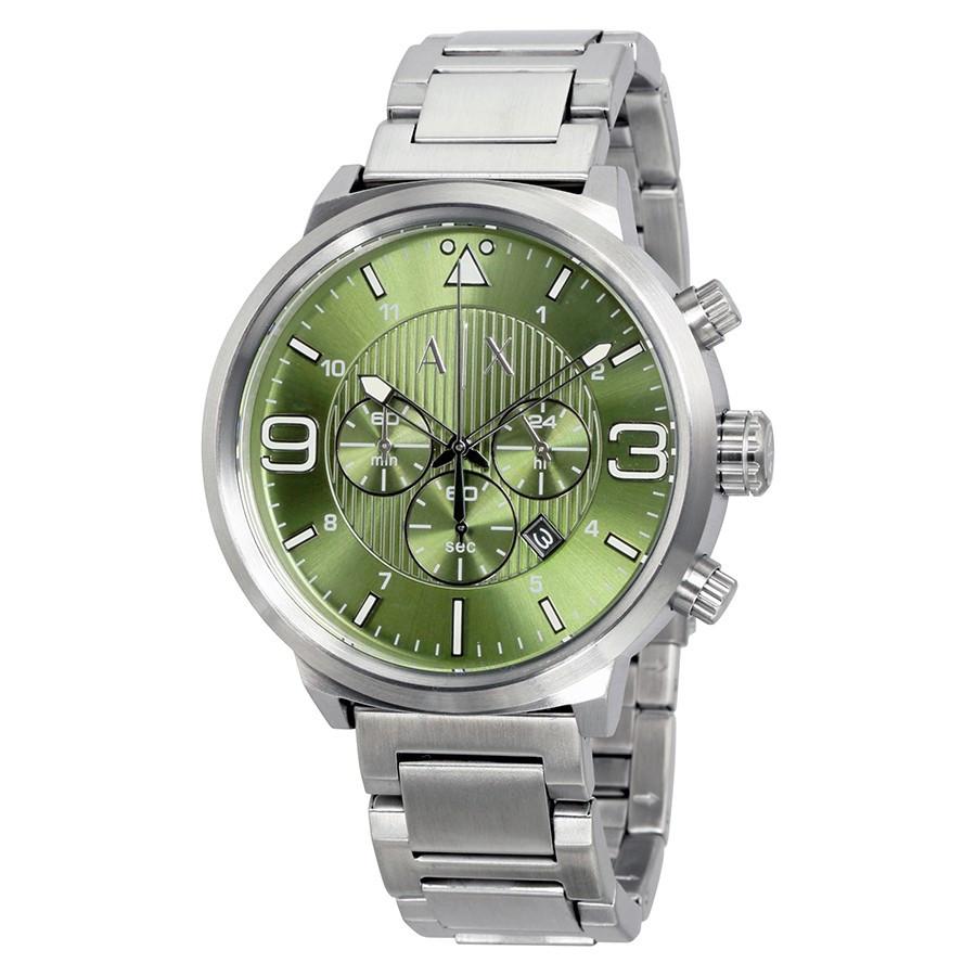 Часы мужские Armani Exchange Olive Green Chronograph  AX1370