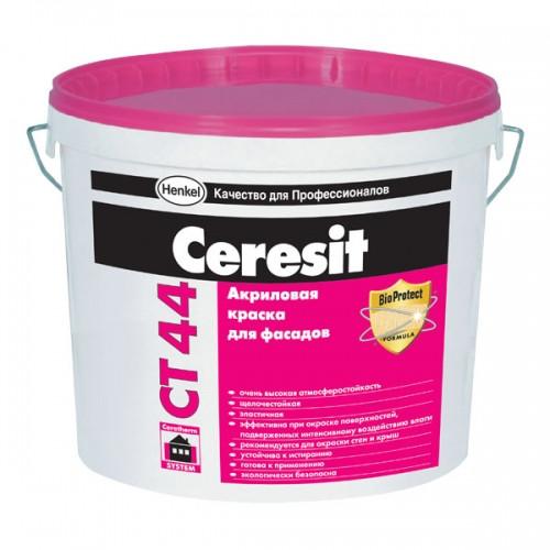 Акриловая краска СУПЕР Ceresit СT 44 (База), 10 л