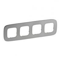 Рамка 4 поста полированная сталь 755504 Legrand Valena Allure