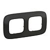Рамка 2 поста черная сталь 755512 Legrand Valena Allure