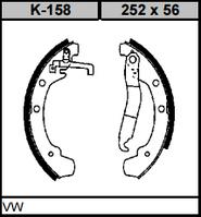 Колодки тормозные барабанные KAMPOL K-158