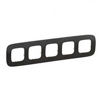 Рамка 5 постов черная сталь 755515 Legrand Valena Allure