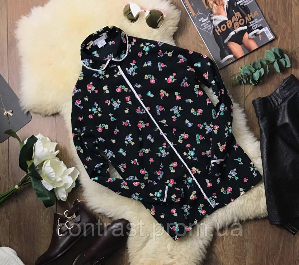 Оригинальная блуза модного фасона с абстрактным принтом  BL210012