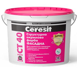 Структурна акрилова фарба Ceresit СТ 40 10л