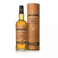 Односолодовый виски Шотландия Нокандо 15 лет 0,7л  Knockando 15 years деревянная коробка
