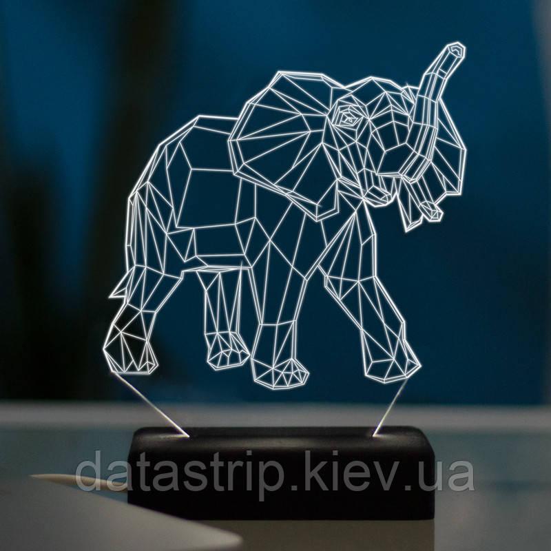 Настольный светодиодный 3D светильник СЛОН