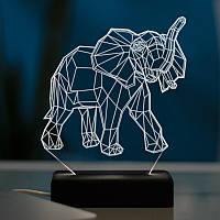 Настольный светодиодный 3D светильник СЛОН, фото 1