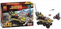Конструктор Bela 10238 Super Heroes (Супер Герои) Капитан Америка против Гидры, 171 дет