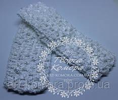 Ажурная повязка узкая, 4 х 12см, белая