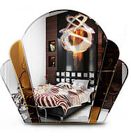 Тонированное зеркало «Ракушка» для ванной комнаты, размер 63х71 см