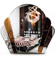 Тонированное зеркало «Ракушка» для ванной комнаты, размер 63х71 см, фото 1