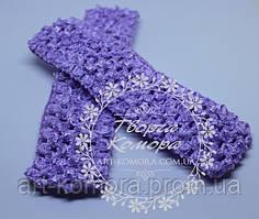 Ажурная повязка узкая, фиолетовая, 4 х 12 см