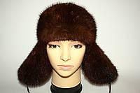 Женская норковая шапка (ушанка)