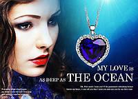 Кулон Сердце океана из Титаника Серебро кристаллы SWAROVSKI