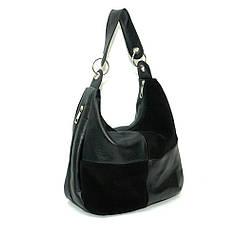 Комбинированная сумка кожа и замша