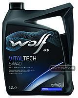 Синтетическое масло WOLF VITALTECH 5W40  ✔ емкость 4л.