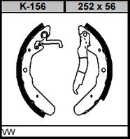 Колодки тормозные барабанные KAMPOL K-156