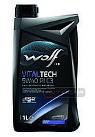 Синтетическое масло WOLF VITALTECH 5W40 PI C3  ✔ емкость 1л.