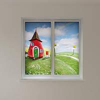 Рулонные шторы в детскую клубничный дом