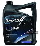 Синтетическое масло WOLF VITALTECH 5W40 PI C3  ✔ емкость 4л.