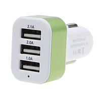 USB  адаптер в прикуриватель авто на 3 USB, №214