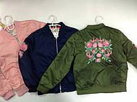 Куртка для девочки-подростка с вышивкой цветы