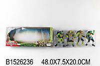 Игрушки человечки Черепашки Ниндзя 4 штуки. Размер коробке 48,0*7,5*20,0см
