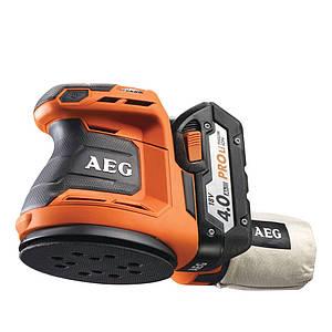 Аккумуляторная эксцентриковая шлифмашина AEG BEX18-125-402C