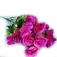 Букет Троянда з золотом 18 голів 70см, фото 1