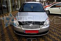 Дефлектор Капота Мухобойка Hyundai Accent 2006-2010 (Короткий)