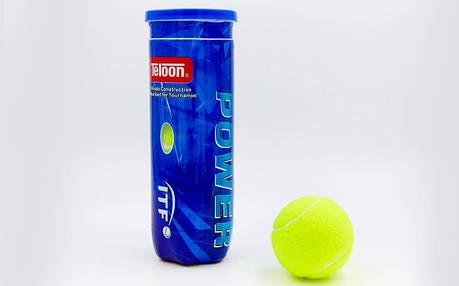 М'яч для великого тенісу TELOON POWER(3шт) T616P3, фото 2