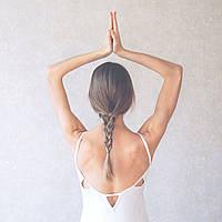 «Cosmic Rays» серый женский комбинезон для йоги и фитнеса