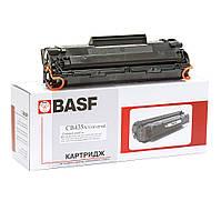 Картридж тонерный BASF для HP LJ P1005/1102, Canon 712 аналог CB435A/CB436A/CE285A Black универсальный