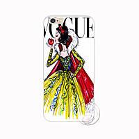 """Чехол пластиковый на айфон 7  iPhone 7 """"Белоснежка на обложке журнала Vogue"""""""