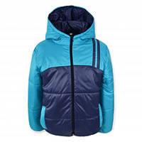 Детская куртка демисезонная СПОРТ на мальчика, синяя, р.110