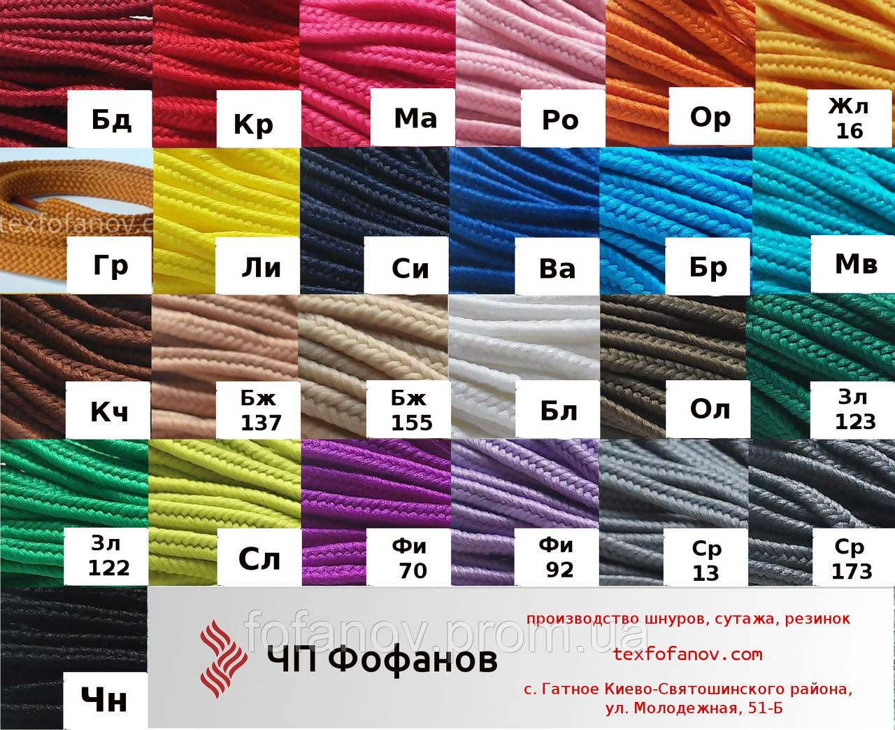 шнур 5 мм для вязания ковра полиэфирный 100 м цена 143 грнмоток