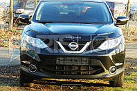 Дефлектор Капота Мухобойка Nissan Qashqai New с 2014 г.в.