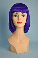 Парик синтетический фиолетовый 30 см
