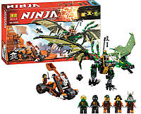 """Конструктор Bela Ninja (Ниндзя) 10526 (аналог Lego Ninjago 70593) """"Зелёный энерджи дракон Ллойда"""" 603 дет"""