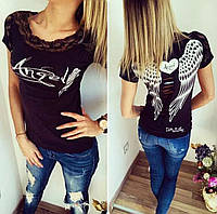 "Чёрная футболка ""Angel"""