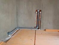 Разводка труб горячей воды ( канализация)