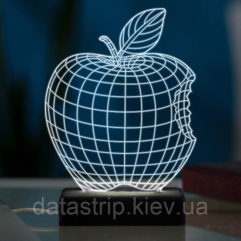 Настільний світлодіодний 3D світильник ЯБЛУКО