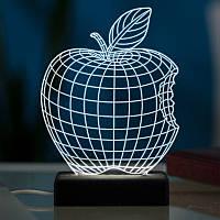 Настільний світлодіодний 3D світильник ЯБЛУКО, фото 1