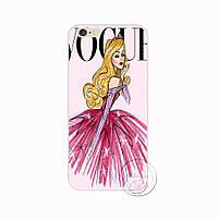 """Чехол пластиковый на iPhone 6 6S  """" Принцесса Аврора на обложке журнала VOGUE"""""""